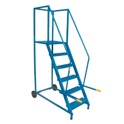 Escalera De Acero Con Plataforma Modelo 8180-12