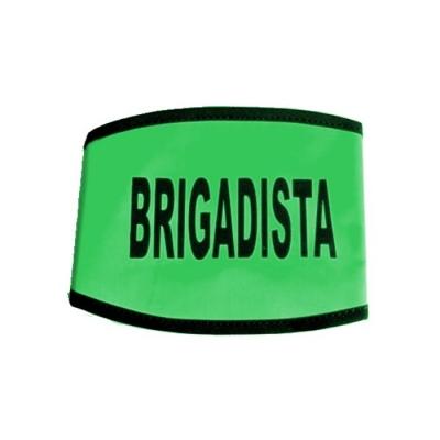 Brazalete C/velcro Y Leyenda  Naranja / Verde