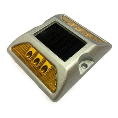 Tacha Solar Vial , 6 Leds Amarillos