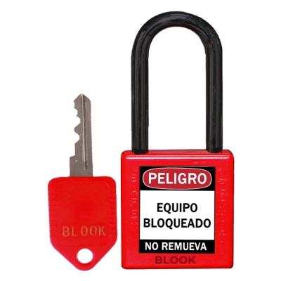 Blook Candado Dielectrico Arandela PlÁstica Rojo 40mm