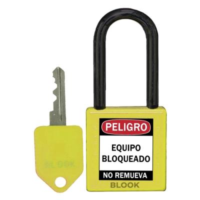 Blook Candado Dielectrico Arandela PlÁstica Amarillo 40mm