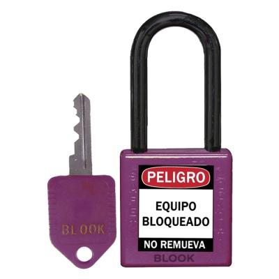 Blook Candado Dielectrico Arandela PlÁstica Violeta 40mm