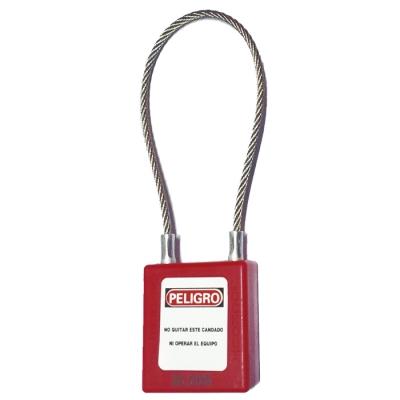 Blook Candado Cable 24 Cm Standar  Rojo 40mm