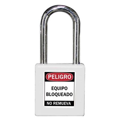Blook Candado Plastico Loto Arandela Metal 40 Mm Blanco