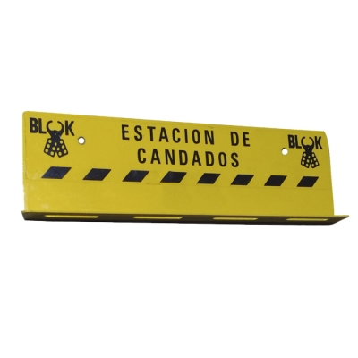 Blook Estacion Para 12 Candados Chapa Amarilla