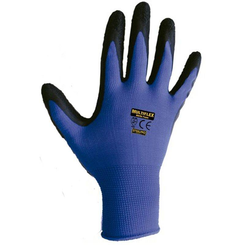 Multiflex Nylon Latex Guantes T9