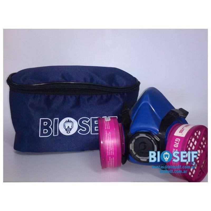 RiÑonera Azul Logo Bioseif