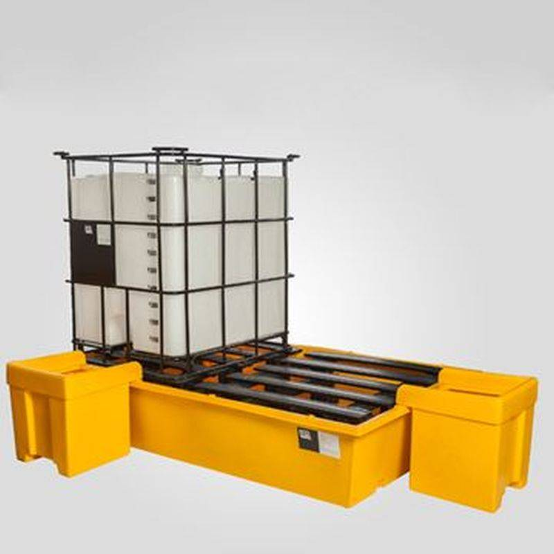 Pallet Antiderrame Para 2 Cubitainers